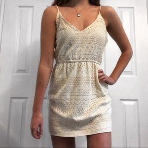Dresses & Skirts - Cream/white mini dress 🐚
